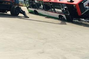 zezłomowany autobus